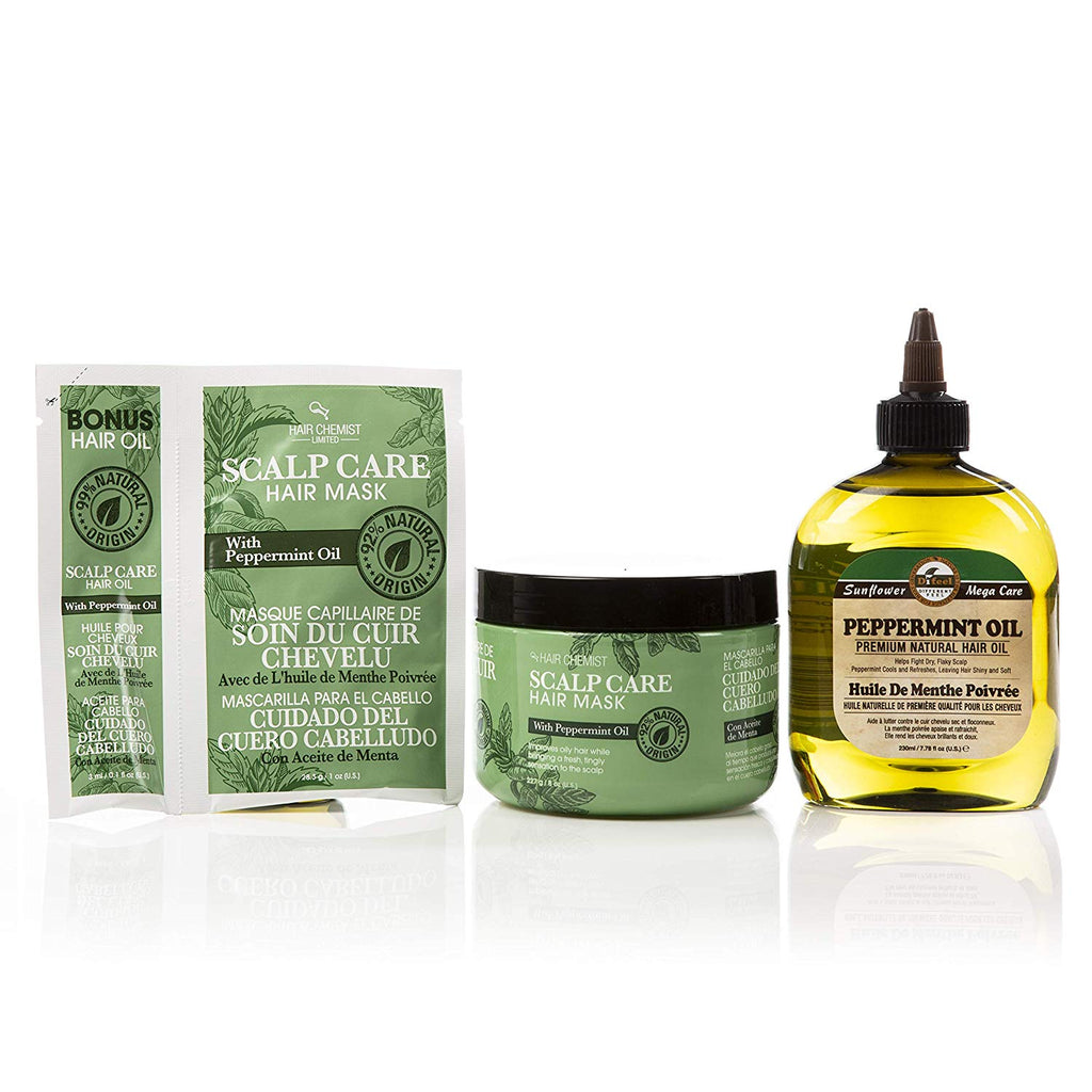 Hair Chemist Peppermint Oil Scalp and Hair Care 3 Piece Set