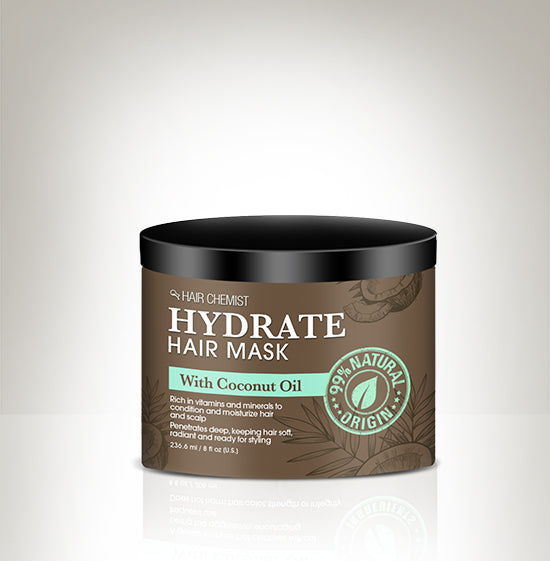 Hair Chemist Hydrate Hair Mask with Coconut Oil 8 oz.