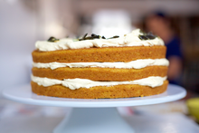 Pumpkin Cake with Caramel Apple Frosting