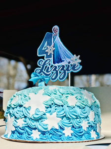 Superb Frozen Cake Topper Frozen Inspired Party Frozen Birthday Funny Birthday Cards Online Elaedamsfinfo