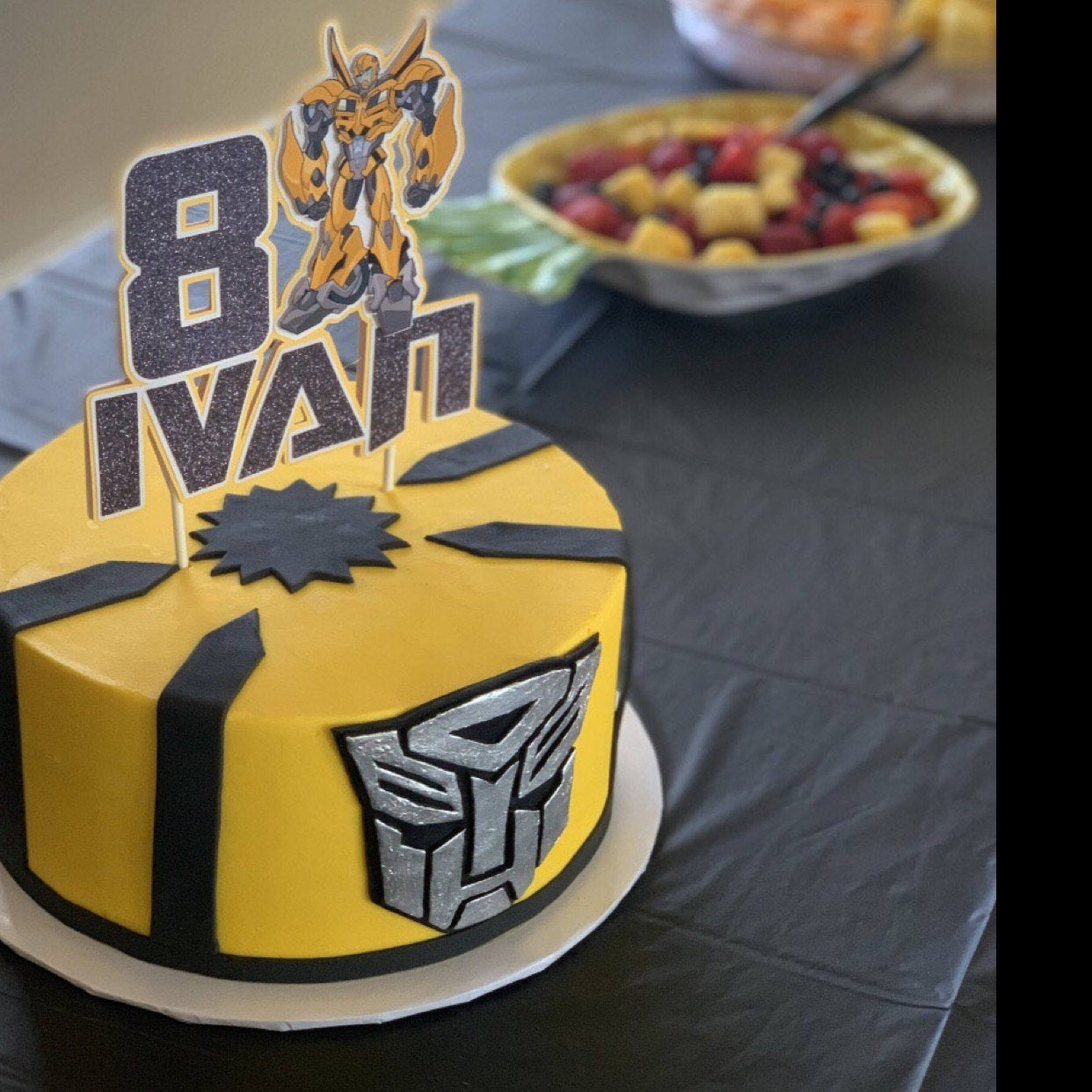 Super Bumblebee Cake Topper Bumblebee Party Transformer Party Funny Birthday Cards Online Inifofree Goldxyz