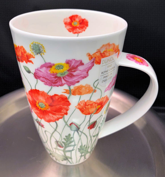 Dunoon Henley Red Poppies Mug