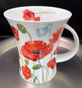 Dunoon Richmond Floral Breeze Poppy Mug