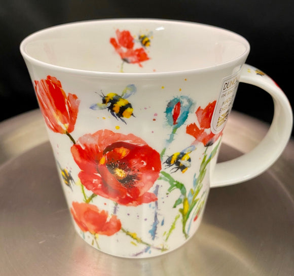 Dunoon Cairngorm Busy Bees Poppies Mug