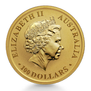 1oz .9999 Gold Australian Kangaroo (our year choice)