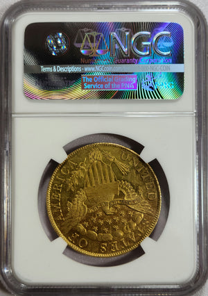 1799 $10 Small Stars Obverse BD-2 NGC AU55