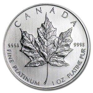 Platinum Maple Leaf 1 oz BU (our year choice)