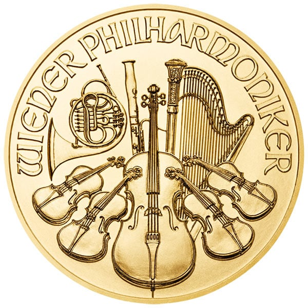 1 oz. Austrian Gold Philharmonic Coin BU