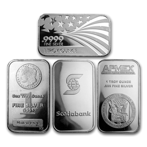 1oz .999 Silver Bar/Round (Our Year Choice)