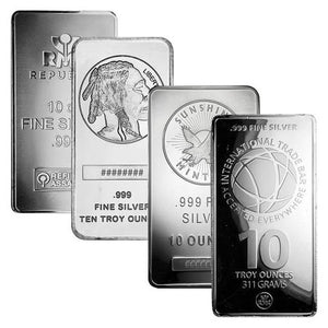 Silver Bar 10 oz. (our type choice)