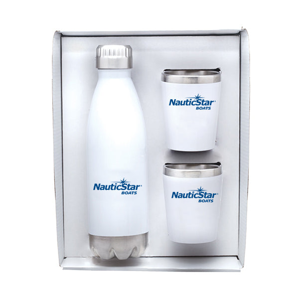 Stainless Steel Bottle & Tumblers Gift Set