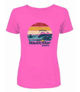 Retro Sunset Women's Performance T-Shirt