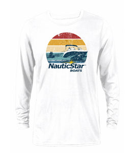 Retro Sunset Men's Long Sleeve Performance T-Shirt