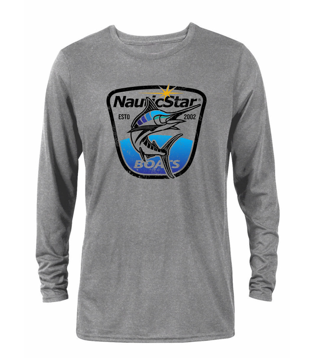 Fish Crest Men's Long Sleeve Performance T-Shirt