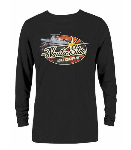 NS Boats Old School Men's Long Sleeve Performance T-Shirt