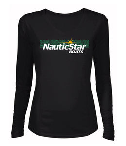 NauticStar Green Waves Women's Long Sleeve Performance T-Shirt