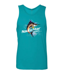 NauticStar Watercolor Swordfish Men's Tank Top