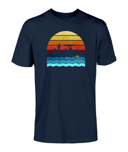Retro Sunset Fishing