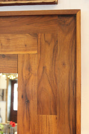 Handmade Walnut Leaning Floor Mirror - Restoration Oak
