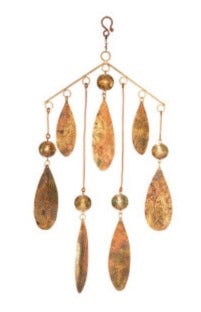 Copper Ball Drops Wind Chime - Restoration Oak