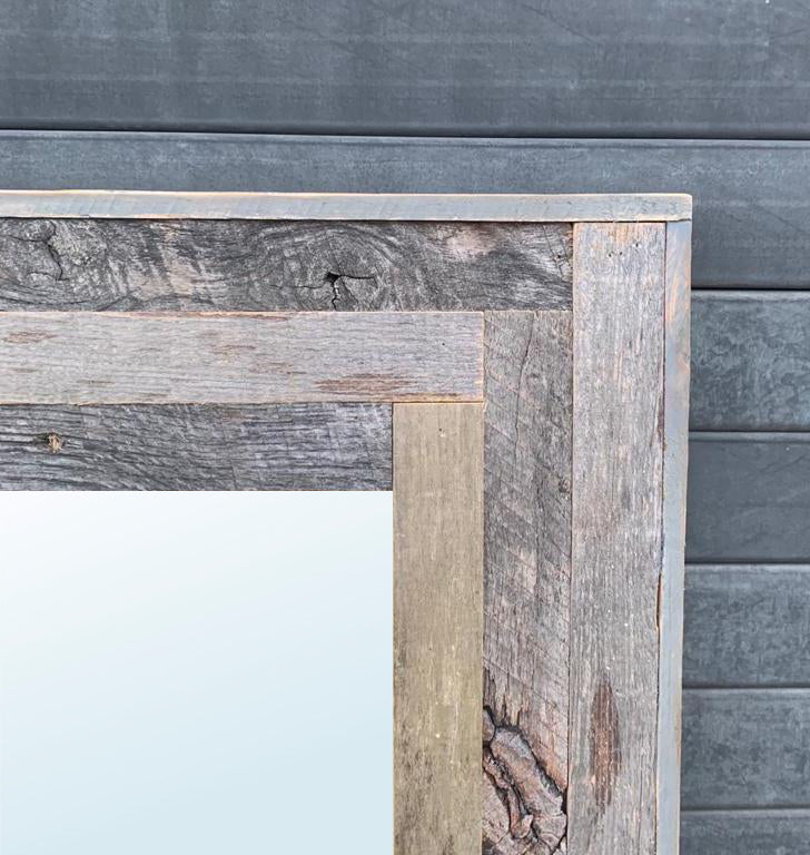 Customize Your Own Floor Mirror - Restoration Oak