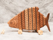 Colombian Fish Pull Toy - Restoration Oak