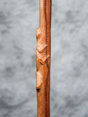 Palm Wood Lizard Walking Stick - Restoration Oak