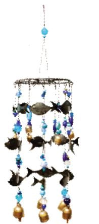 Swimming with the Fishes Wind Chime - Restoration Oak
