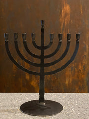 Torch Menorah - Restoration Oak