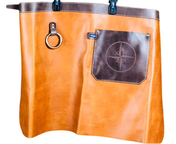 Leather Compass Half Apron - Restoration Oak