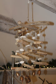 Wall of Sticks Wind Chime - Restoration Oak