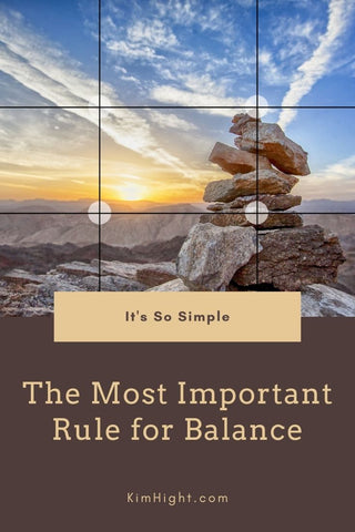 How the Rule of Thirds Can Balance Your Life Blog by Kim Hight