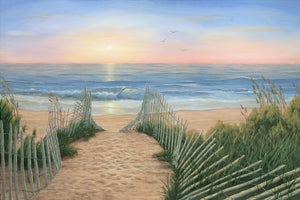 """Coastal Sunrise"" - Art by Kim Hight"