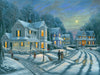 A Simpler Time snow painting by Kim Hight