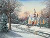 The Old Schoolhouse snow painting by Kim Hight