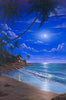 Tropical Moonlight beach wall art by Kim Hight