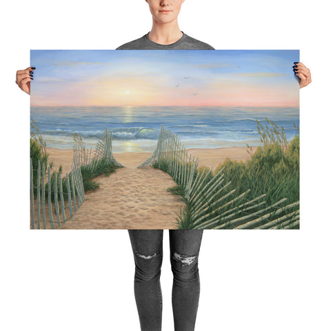 Coastal Sunrise beach wall art 24x36 by Kim Hight