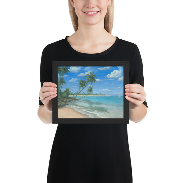 Blue Paradise framed art prints 8x10 by Kim Hight