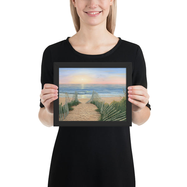 Coastal Sunrise framed art prints 8x10 by Kim Hight