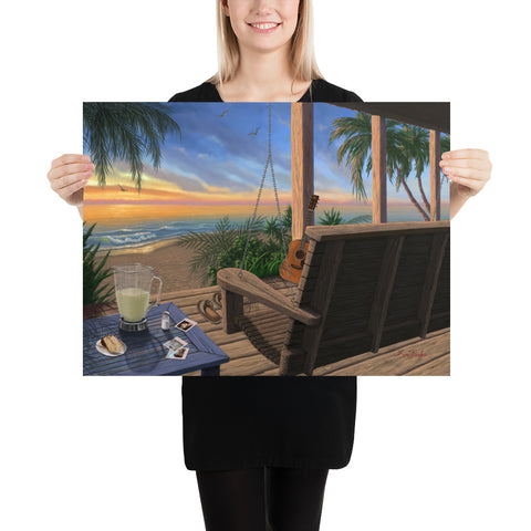 Jimmy's Place beach wall art 18x24 by Kim Hight