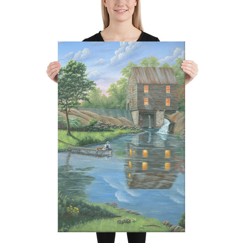 Laurel Mill giclee on canvas print 24x36 by Kim Hight