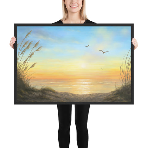 Golden Sunset framed art 24x36 by Kim Hight