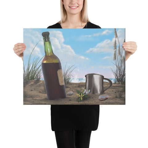 I Wanna Be There wine art on canvas 18x24 by Kim Hight