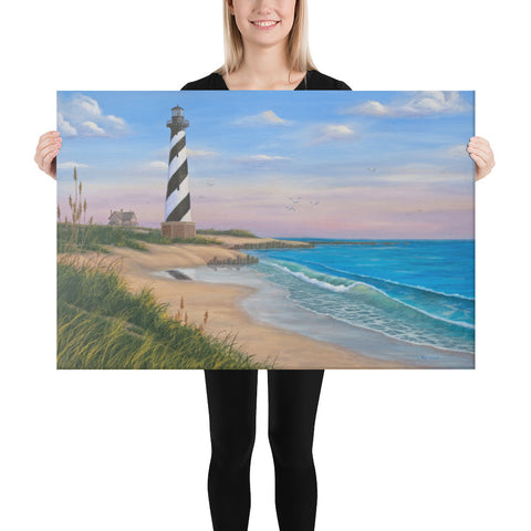 Cape Hatteras beach art on canvas 24x36 by Kim Hight