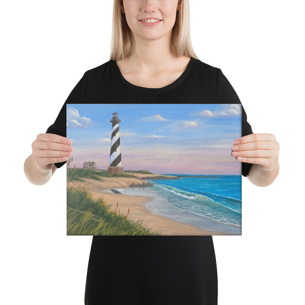 Cape Hatteras giclee on canvas print 12x16 by Kim Hight