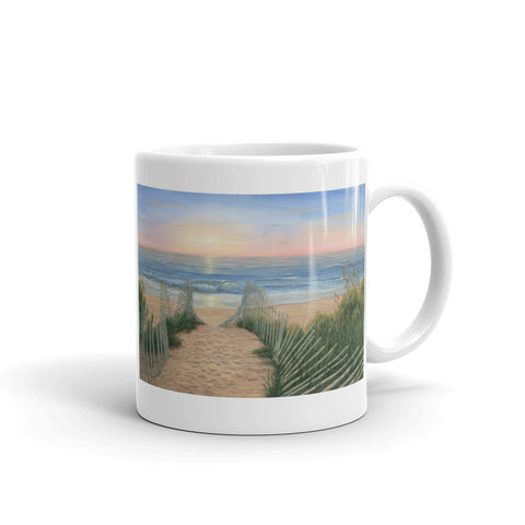 """Coastal Sunrise"" Coffee Mug"