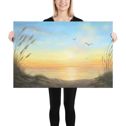 Golden Sunset beach wall art 24x36 by Kim Hight