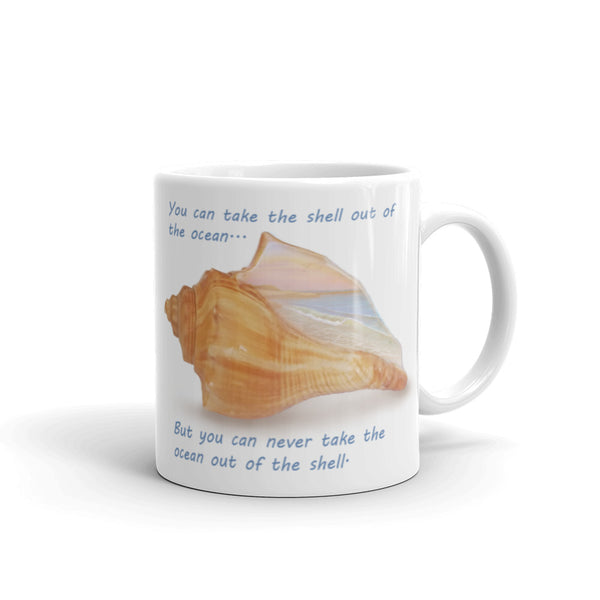 """Ocean in the Shell"" Coffee Mug"