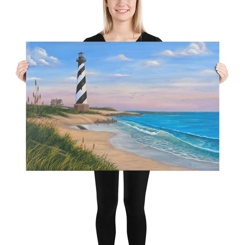 Cape Hatteras painting of the ocean 24x36 by Kim Hight