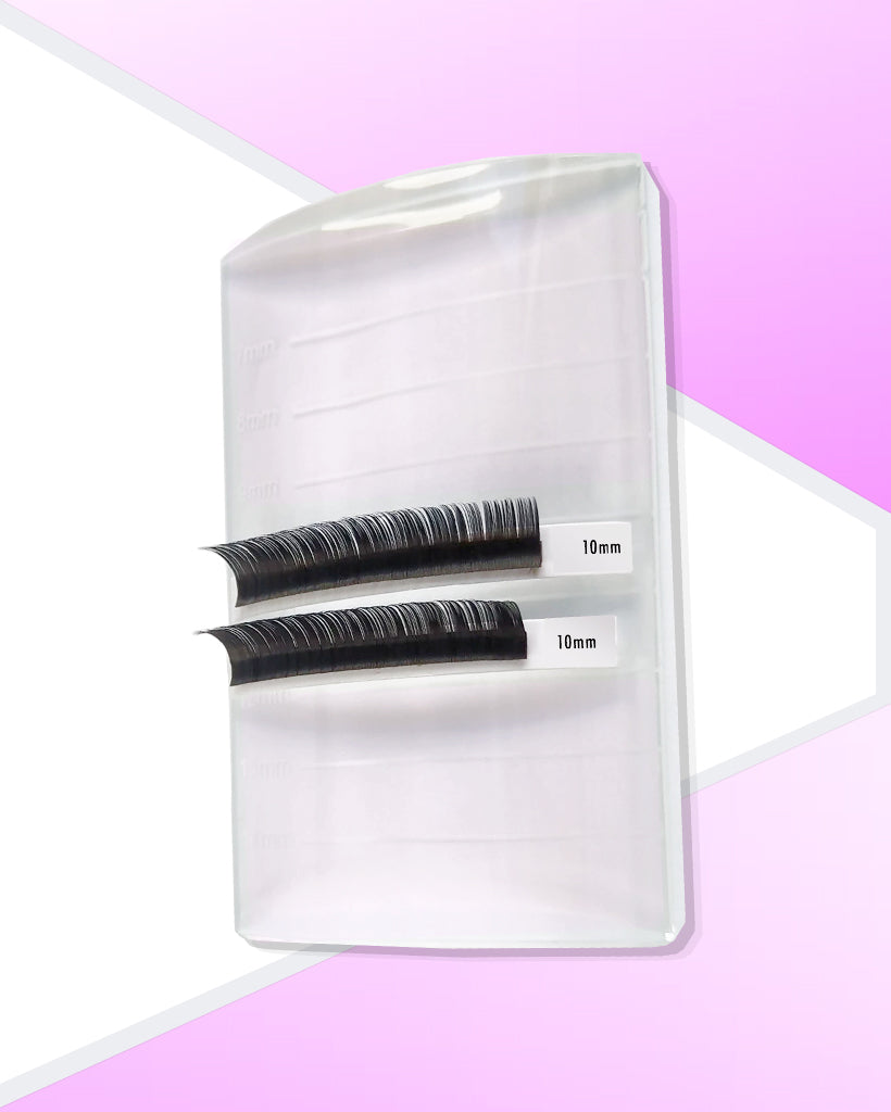 Oval Glass Eyelash Pallet Lash Stylist Equipment By Fulfill Lashes